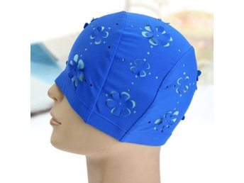 Unisex Stretch Swim Caps Polyester Swimming Bathing Hat f...