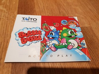 Bubble Bobble SCN Manual Nintendo 8-bit NES
