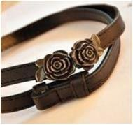 Ny! Koreanska Cute Blomma fashion Belt Svart