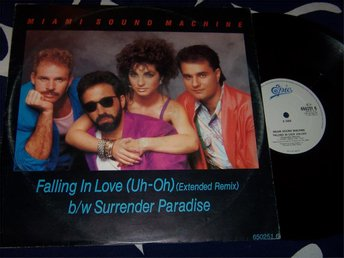 "MIAMI SOUND MACHINE - FALLING IN LOVE 12"" 1985 EXT. REMIX"