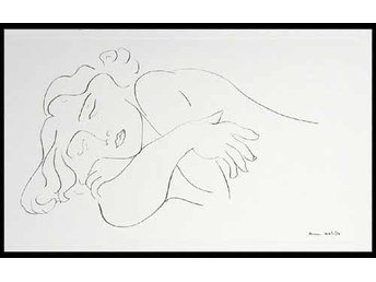 Henri  Matisse (Sleeping Model) Serigrafi