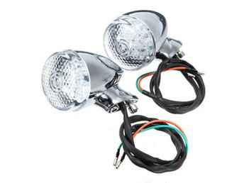 Motorcycle Bullet LED Turn Lights Blinker for Harley Hond...