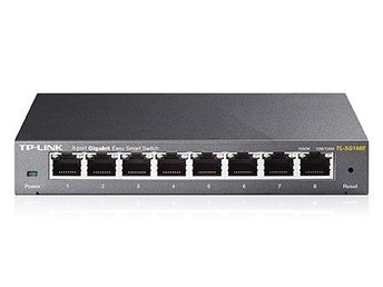 TP-Link 8-Port Gigabit Easy Smart Switch, 8 10/100/1000Mbps RJ45 ports