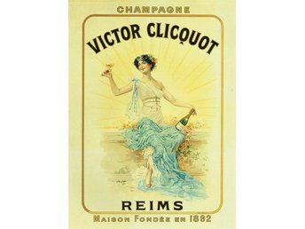 CHAMPAGNE VICTOR CLICOUOT REIMS FRANKRIKE ALKOHOL JUGEND LYX POSTER A2
