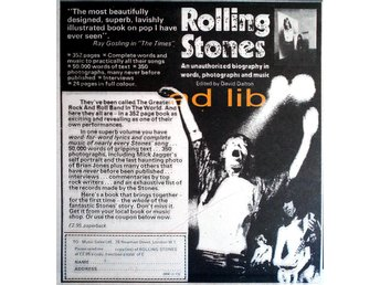 ROLLING STONES - BIOGRAPHY, TIDNINGSANNONS 1973