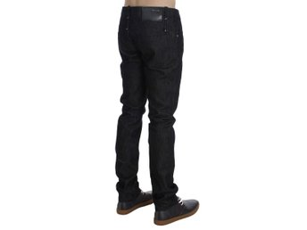 ACHT - Black Cotton Slim Skinny Fit Jeans