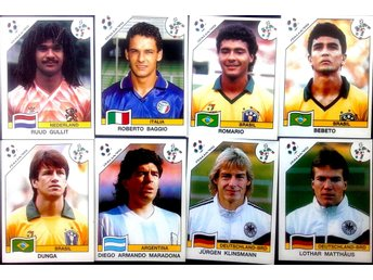 PANINIs  STICKERS - ITALY 90 -  WORLD CUP 1990  STAR - PLAYERS.