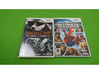 Resident Evil The Umbrella Chronicles & Marvel Ultimate Alliance Nintendo Wii