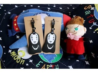 Bagagetag/Luggage tag med No-face i Spirited Away