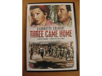 THREE CAME HOME - CLAUDETTE COLBERT - SVENSK TEXT - DVD