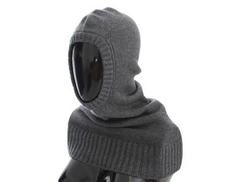 Dolce & Gabbana - Gray Cashmere Knitted Hood Scarf Hat