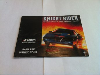 NES: Manualer: Knight Rider (End. manual -Tysk)