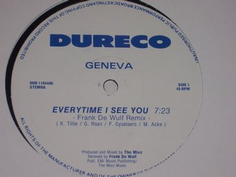 "GENEVA - EVERYTIME I SEE YOU 12"" DE WULF REMIX  TOPPSKICK!!"