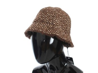 Dolce & Gabbana - Brown Woven Wool Blend Hat