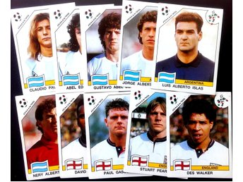 PANINIs  STICKERS - ITALY 90 -  ARGENTINE  and  ENLAND  PLAYERS.