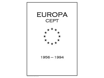 EUROPA CEPT STAMP PDF DIGITAL ALBUM PAGES 1956-1994 INGA FRIMÄRKEN!!