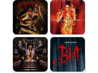 ATROCITY COASTERS - Set of 4