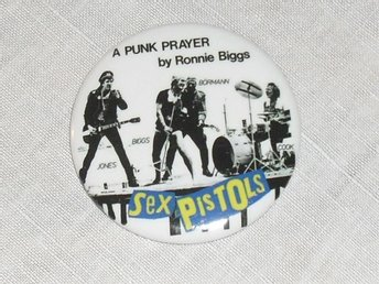 SEX PISTOLS - STOR Badge / Pin / Knapp (Punk, Swindle, Ronald Biggs,)