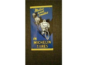 Emaljskylt Michelin Tyres 20x10cm - Wien - Emaljskylt Michelin Tyres 20x10cm - Wien