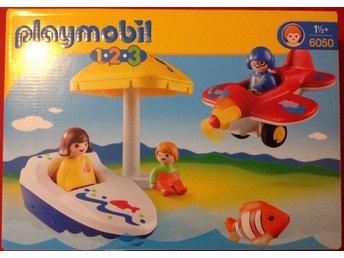 Playmobil, Playmobil 1-2-3, Playmobil båt och flygplan, NY - Trångsund - Playmobil, Playmobil 1-2-3, Playmobil båt och flygplan, NY - Trångsund