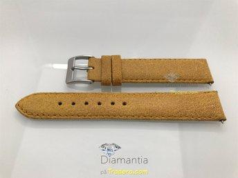 18 mm -- NYTT -- klockarmband i äkta läder -- Guld -- beige armband för klockor - Boliden - 18 mm -- NYTT -- klockarmband i äkta läder -- Guld -- beige armband för klockor - Boliden