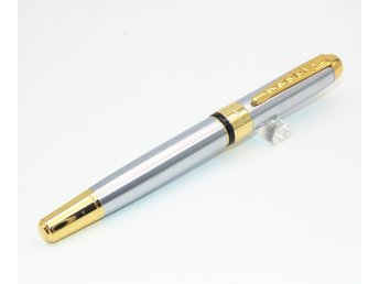 Hero Luxury Deluxe Black Business office Medium Nib Fountain Iridium Gold tip