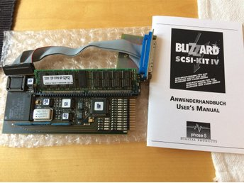 Phase 5: Blizzard IV SCSI turbo korten blizzard 1230 1240 1260 med 32 mb kabel