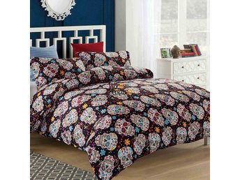 Skull Florals Duvet Cover Bedding Set Single/Double Size Quilt Cover Pillowcases