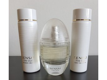 Sensai Kanebo The silk Edt 50 ml Parfym ShowerCream 100 ml Body Emoulsion 100 ml