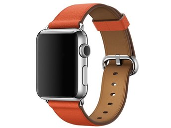 Classic Buckle 42/44mm Apple Watch Armband - (ORANGE)