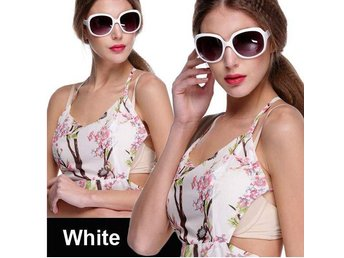 (SKU00147)1ST Retro Women Oversized Designer Sunglasses(White)