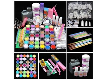 Javascript är inaktiverat. - Palakkad - Description: 1 x Acrylic powder (Clear) 1 x Acrylic powder (White) 1 x Acrylic powder (Pink) 1 x Acrylic liquid (120ml) 1 x Small nail cleaning brush 1 x Sanding file 3 x Nail glue(10g glue with brush) 5 x Nail art dotting pen 1 x 3D acrylic mo - Palakkad