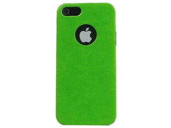 iPhone 5/5S TPU L?der Paste Skal Gr?n