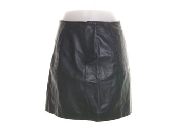 Selected Femme, Skinnkjol, Strl: 36, SF HARMONIA MW LEATHER SKIRT, Svart