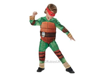 DeLuxe Teenage Mutant Ninja Turtles 110/116cl (5-6 år) Vadderad dräkt 4 masker