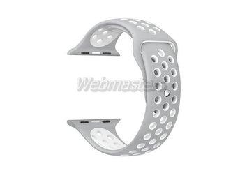 Apple Watch 38mm S/M silikon Sport klockarmband / Silver vit - Hong Kong - Apple Watch 38mm S/M silikon Sport klockarmband / Silver vit - Hong Kong