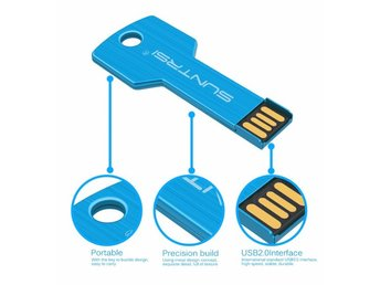 USB 2.0 Flash SVART 8GB