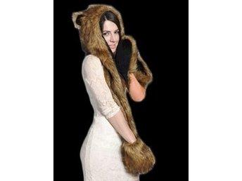 MÖSSA BJÖRN grizzlybjörn djurmössa hatt keps m HALSDUK VANTE snabb leverans    56252bb186287