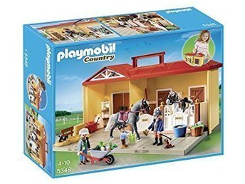 Playmobil 5348 Country Pony Farm / bärbar Ponnystall i nyskick!