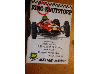 Program -RING  KNUTSTORP 1968