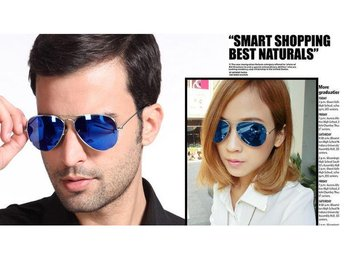 (SKU00129) Men Outdoor Sports Polarized  Driving Eyewear Sunglasses -Blue