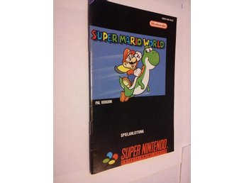 SNES: Manualer: Super Mario World (End. manual - Tysk)