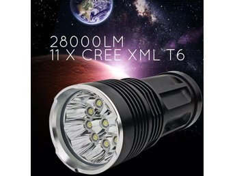 Ficklampa med 11 st CREE XML- T6 LED/ EXTREM - Mölndal - Ficklampa med 11 st CREE XML- T6 LED/ EXTREM - Mölndal
