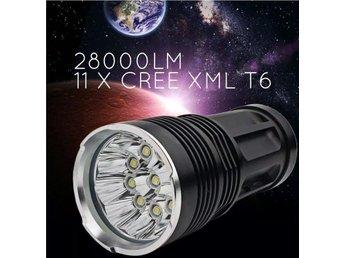 Ficklampa med 11 st CREE XML- T6 LED/ EXTREM - Mölndal - Ficklampa med 11 st CREE XML- T6 LED/ EXTREM - Mölndal