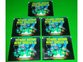 5-Pack Teenage Mutant Hero Turtles Samlarbilder från 1991!