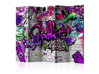 Rumsavdelare -  Purple Graffiti Room Dividers 225x172