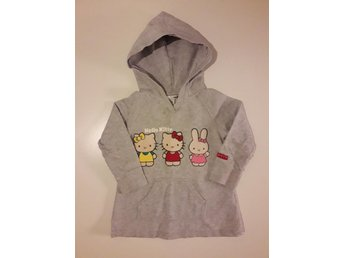 Hello Kitty och Miffy sweatshirt hoodie huvtröja stl.104