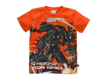 LEGO HERO FACTORY T-SHIRT, LJUS ORANGE (134)