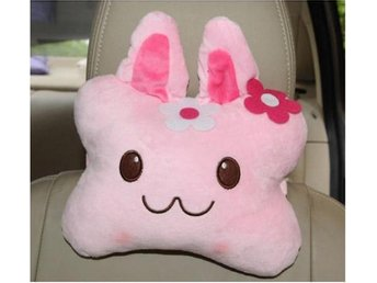 NY!Cute Pink rabbit Neck Rest Car Travel Pillow Portable