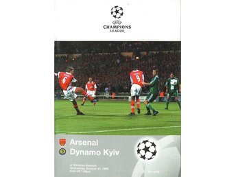Program; Arsenal - Dynamo Kyiv (Champions League 21.10.1998)